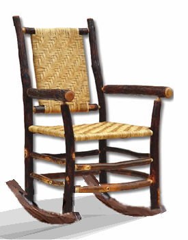 Rocking Chairs made out of Hickory Hardwood Comfortable and will