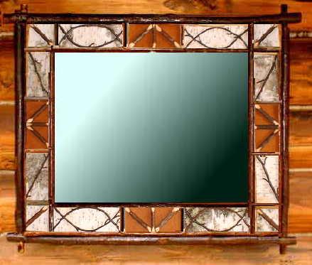 Birch Bark Frames & Mirrors - Twig, barnboard and rustic frames