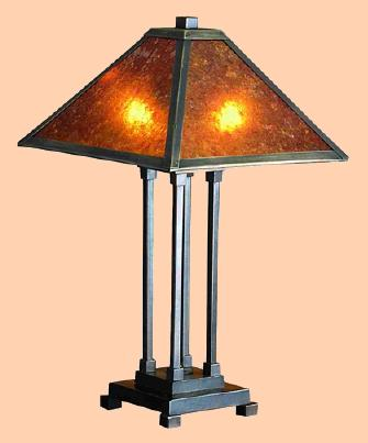 Mica lamps from adirondack rustic designs 324h mica mission table lamp mahogany bronze hand finished metal total 24 h shade 7 h x 20 sq max watt 40 x 2 price 285 plus sh aloadofball Gallery