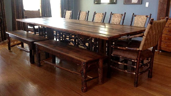 Rustic tables from adirondack rustic designs for 12 foot long dining room table