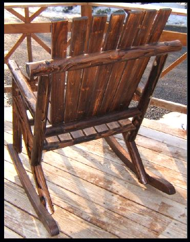 Cedar Rustic Outdoor furniture. Unique wood finish
