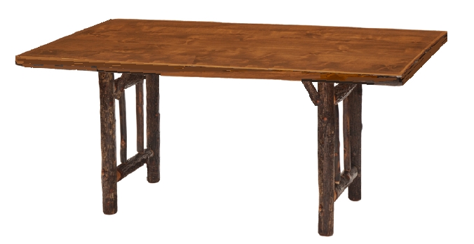 The SARATOGA Dining Table Sleek Elegant But Still Has Rustic Flair Solid Pine Top In Light Or Dark Stain 72 Long X 36 Wide 30 High