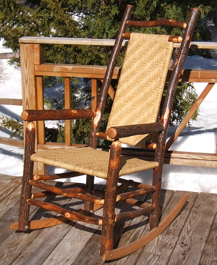 Rocking Chairs Made Out Of Hickory Hardwood, Comfortable And Will Last A  Lifetime