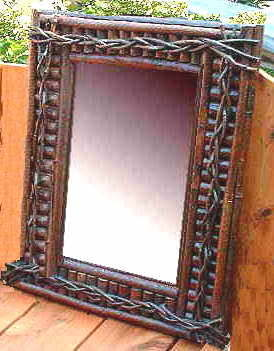 birch bark frames mirrors twig barnboard and rustic frames